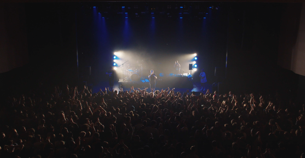 Image is from the Christchurch Concert. Provided by Hilltop Hoods.